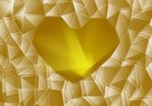 Gold glass heart — Photo