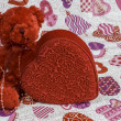 Valentine's Day Bear 2 — Stock Photo