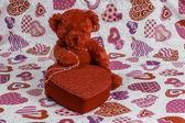 Valentine's Day Bear — Stock Photo