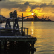 Stock Photo: Industrial Coastline Sunset