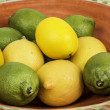 Lemon and Lime Fruit Bowl — Stock Photo