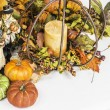 Thanksgiving and Fall Themed Arrangement — Stock Photo