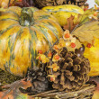 Fall Harvest Pumpkin Scene — Stock Photo