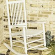 Stock Photo: White Rocking Chair