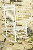 White Rocking Chair — Stock Photo