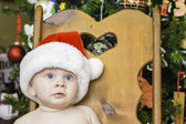 Baby Christmas Portrait — Stock Photo