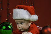 Baby Christmas Portrait — Stock Photo