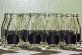 Glass Milk Bottles — Stock Photo
