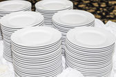 Banquet Plates — Stock Photo