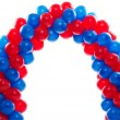 Arch of red and blue balloons — Stock Photo #28632807