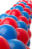Red and Blue balloons — Stock Photo