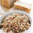 Buckwheat with bread — Stock Photo