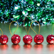 Five Christmas balls — Stock Photo #31217693