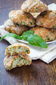 Scones with basil and parmesan — Stock Photo
