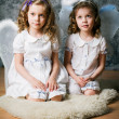 Two sisters with angel wings — Stock Photo #31895067