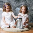 Two sisters with angel wings — Stock Photo #31895073