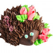 Cake in the form of a hedgehog — Stock Photo