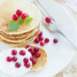 Pile of pancakes — Stock Photo