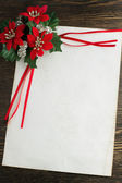 Letter to Santa Claus with Christmas decorations — Stock Photo