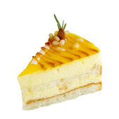 おいしいマンゴー ケーキのスライス — ストック写真
