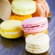 Stock Photo: Macaroon strewn out of paper bag