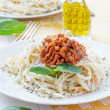 Pasta spaghetti with bolognese sauce  — Stock Photo #46397585