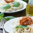 Spaghetti with bolognese sauce  — Stock Photo #46397589