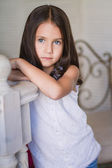 Portrait of Little cute girl — Stock Photo