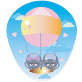 Spiders in a Balloon — Stock Vector