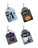 Halloween Sale Tags — Stock Vector
