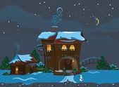 Calle de navidad — Vector de stock
