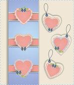 Colección de etiquetas de corazón — Vector de stock