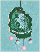 New Year Card — Vetorial Stock