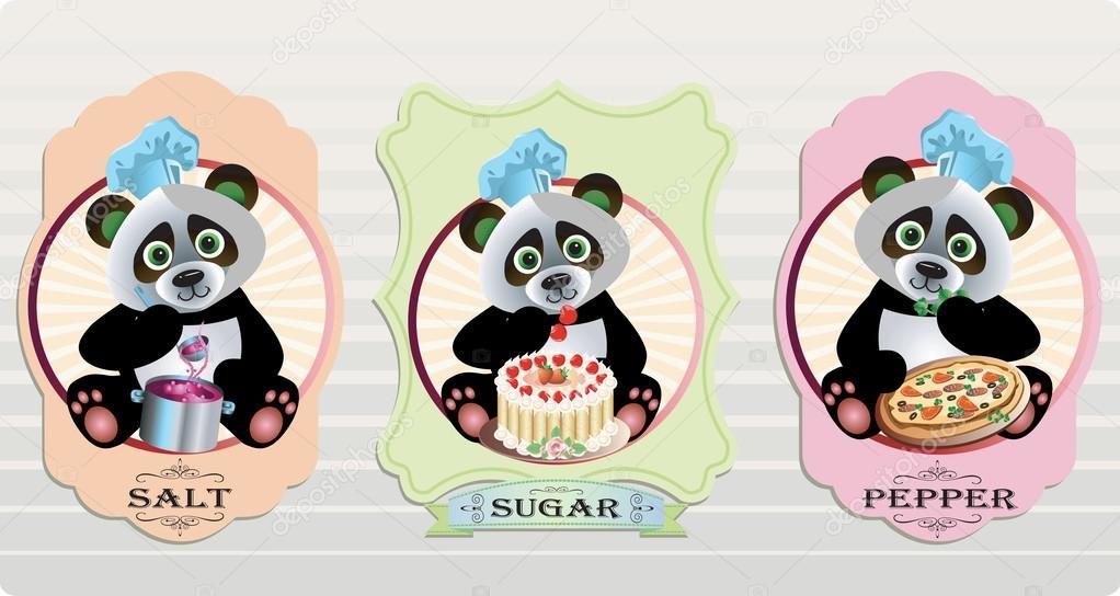 可爱熊猫矢量 leremy