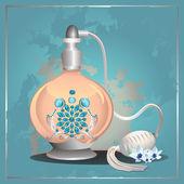 Frasco de perfume de bomba — Vetor de Stock
