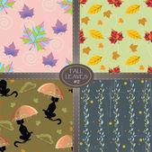 Autumn Fall Leaves — Stock Vector