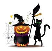 Kat met pot — Stockvector