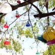 Stock Photo: Lanterns hanging from tree