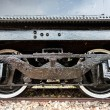 Detail of the wheels on a steam train — Stock Photo