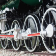 Detail of the wheels on a steam train — Stock Photo #32448355