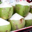 Green coconut sale — Stock Photo