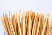 Toothpicks in the bank on a white background — Stock Photo