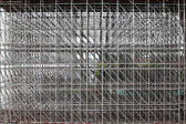 Large scaffolding. Metro construction in morning — Stock Photo