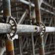 Stock Photo: Large scaffolding joints
