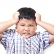 Asian boys feel stressed and fatigued — Stock Photo