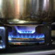 Power of the gas burner — Stock Photo