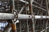 Large scaffolding joints — Stock Photo