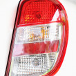 Tail light on the right car. — Stock Photo