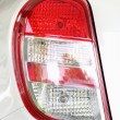 Foto Stock: Left tail light car.