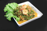 Shrimp salad with fresh vegetables — Stock Photo